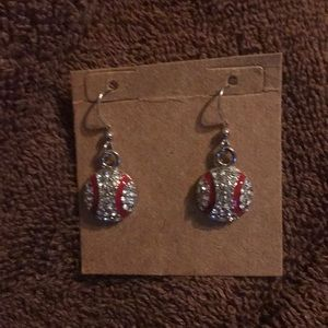 Baseball lovers earrings!!!